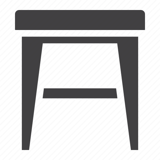 chair, furniture, home, interior, seat, stool, wood icon