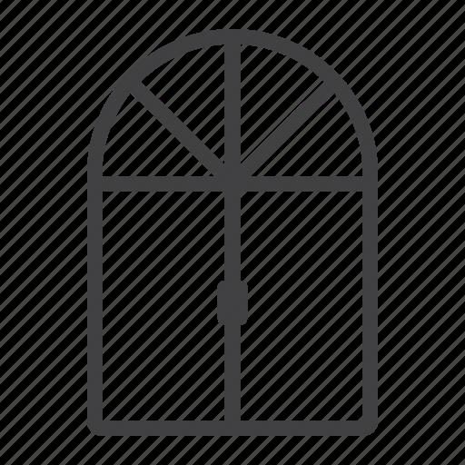 frame, furniture, glass, house, interior, window icon