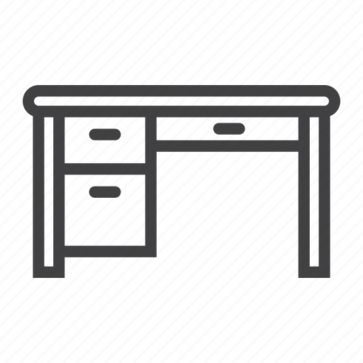 desk, furniture, interior, office, table, work icon