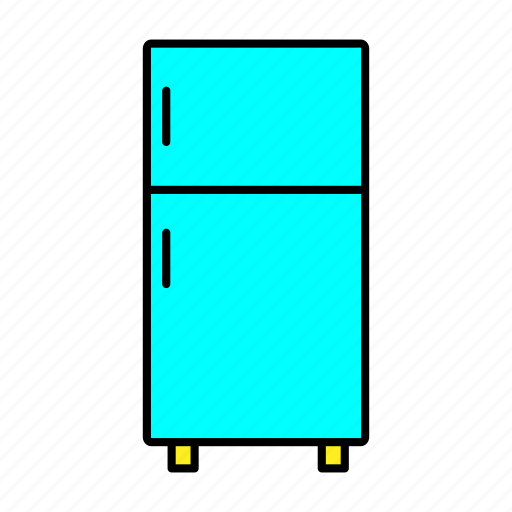 collection, furniture, interior, refrigerator, room icon