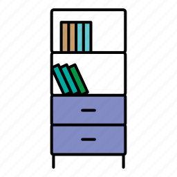 book, collection, furniture, interior, table icon