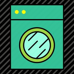 collection, furniture, interior, machine, washing icon