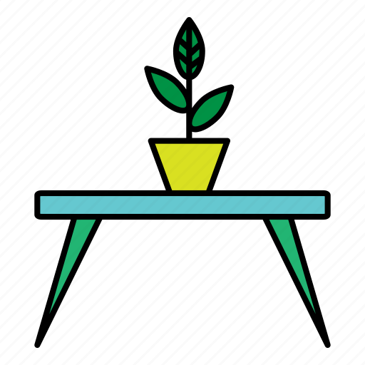 collection, design, flower, furniture, interior, table icon