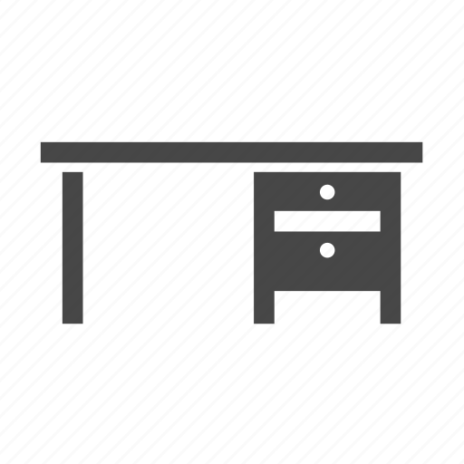 desk, drawers, furniture, table icon