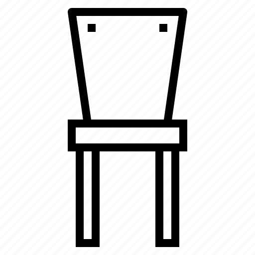 chair, dining chair, furniture, seat icon