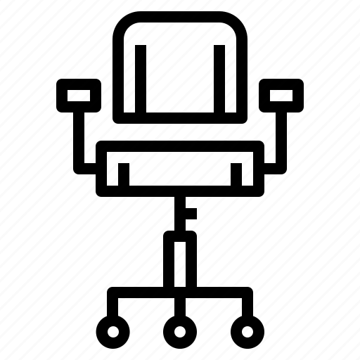 chair, furniture, office chair, seat icon