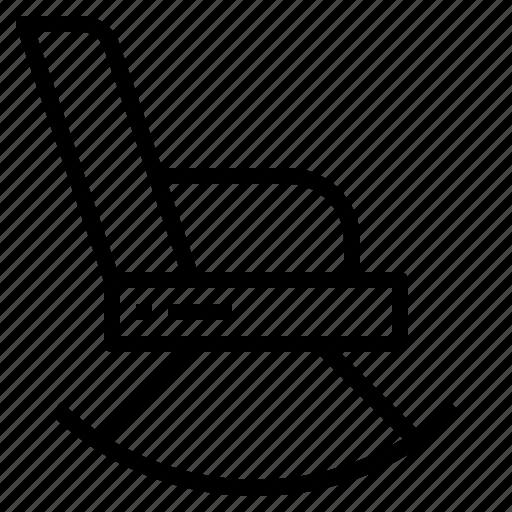 chair, furniture, rocking chair icon