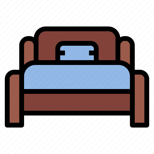 bed, bedroom, room, single icon