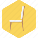 chair, furniture, home, household, resort icon