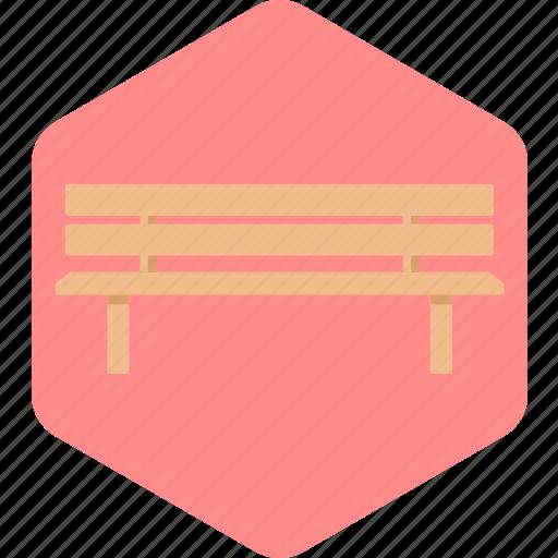 furniture, public, seat, seater, wood icon