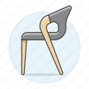 black, chair, chairs, furniture, modern, objects, sofas icon