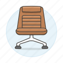 1, brown, chair, chairs, furniture, leather, objects, office, padded, sofa, sofas icon