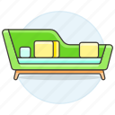 chairs, furniture, green, modern, objects, sofa, sofas icon