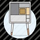cabinet, furniture, leg, legged, long, modern, objects icon