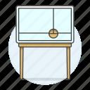 1, cabinet, furniture, leg, legged, long, modern, objects icon