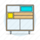 2, cabinet, furniture, modern, objects icon