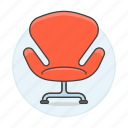 2, chair, chairs, furniture, objects, red, sofa, sofas icon