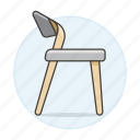 chair, chairs, furniture, modern, objects, simple, sofas icon