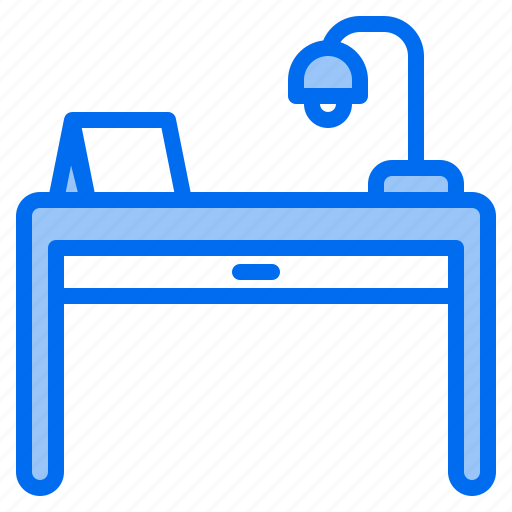 clean, design, desk, furniture, lamp, splendid, tidy icon