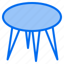clean, design, furniture, round, splendid, table, tidy icon