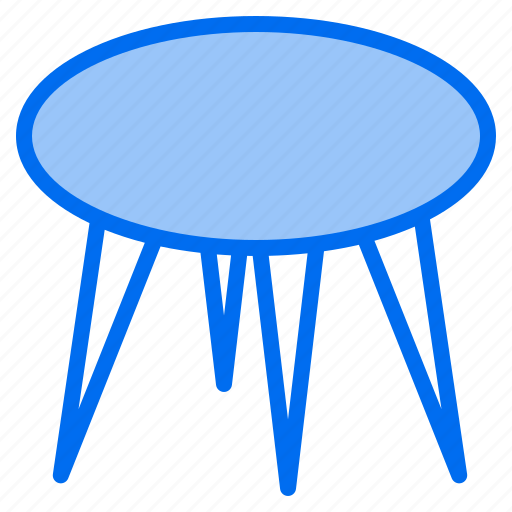 clean, design, furniture, round, splendid, table, tidy icon
