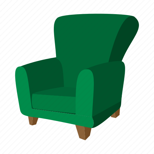 armchair, cartoon, chair, comfortable, furniture, interior, seat icon
