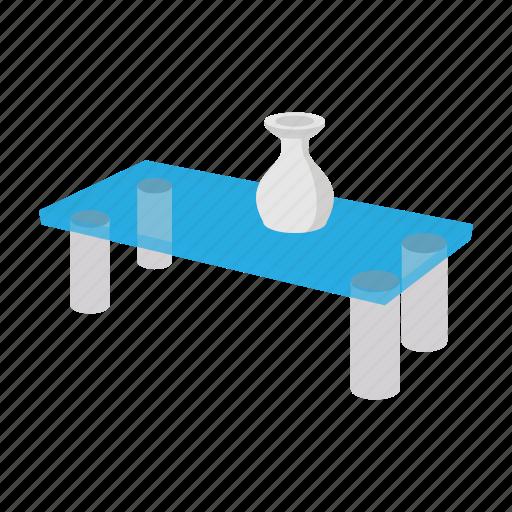 cartoon, coffee, furniture, glass, modern, style, table icon
