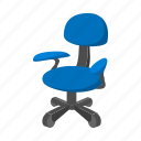 cartoon, chair, comfortable, furniture, nobody, office, wheel icon