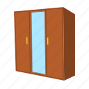 cartoon, closet, cupboard, furniture, home, modern, wardrobe icon