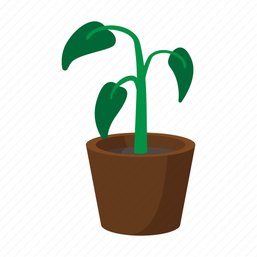 Cartoon, Decorative, Foliage, Nature, Plant, Pot, Small Icon