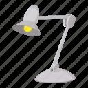 cartoon, desk, electric, equipment, lamp, office, table