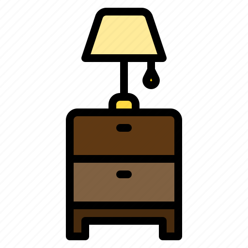 bedside, clean, design, furniture, lamp, table, tidy icon