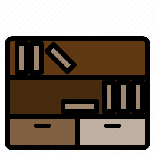 bookshelf, clean, design, furniture, room, splendid, tidy icon