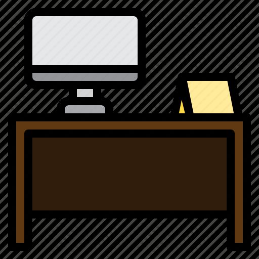 clean, computer, design, desk, furniture, splendid, tidy icon