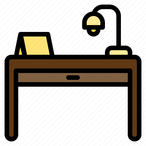 clean, design, desk, furniture, lamp, splendid, tidy icon