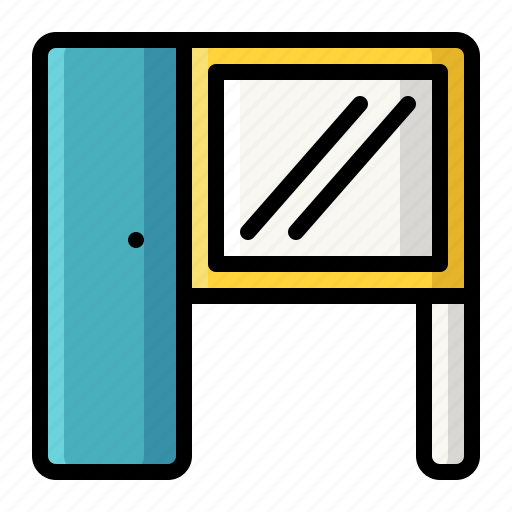 desk, makeup, mirror, table, wardrobe icon
