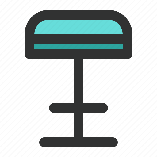 bar, chair, furniture, stool, tall icon
