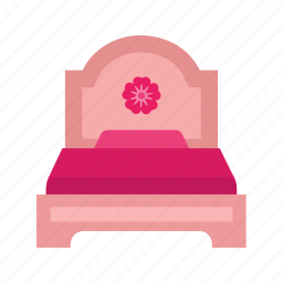 apartment, bed, furniture, modern, relaxation, room icon