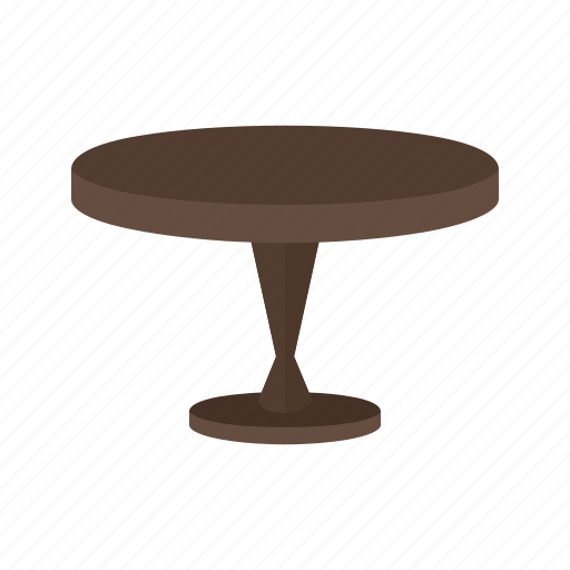 elegance, furniture, side, small, style, table, wood icon