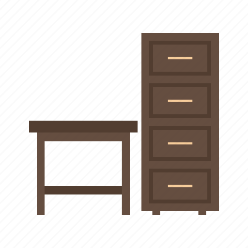 furniture, old, shelf, table, wall, wood, wooden icon
