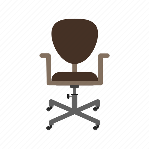 chair, furniture, leather, manager, revolving, seat, wheels icon
