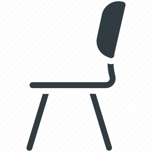 chair, desk chair, dining chair, furniture, seat icon