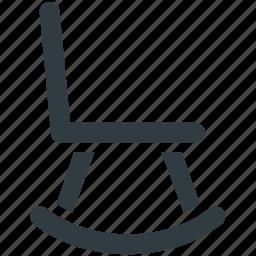chair, furniture, oak furniture, rocker chair, rocking chair icon