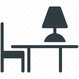 chair, furniture, study desk, study table, table icon
