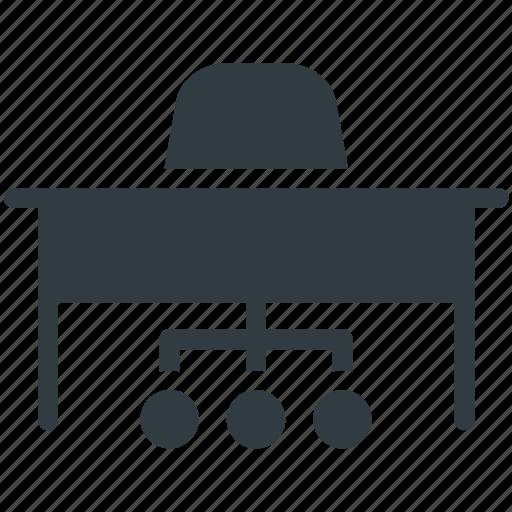 Bureau, desk drawer, office desk, office table, study desk icon - Download on Iconfinder