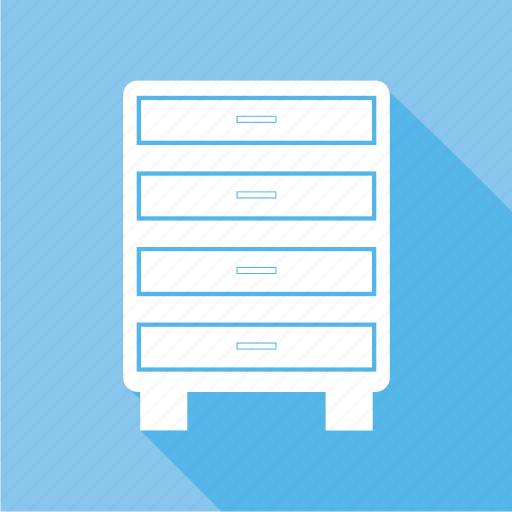 cabinets, drawers, filing cabinets, furniture icon