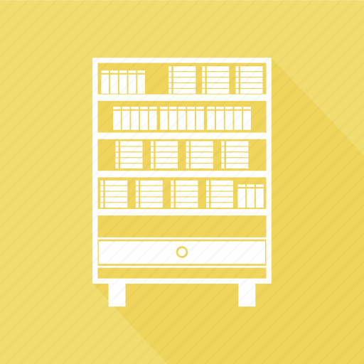 Book, book shelf, cabinet, drawer, furniture, home interior, office icon - Download on Iconfinder