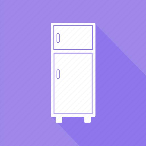 double door fridge, electronics, freezer, home icon