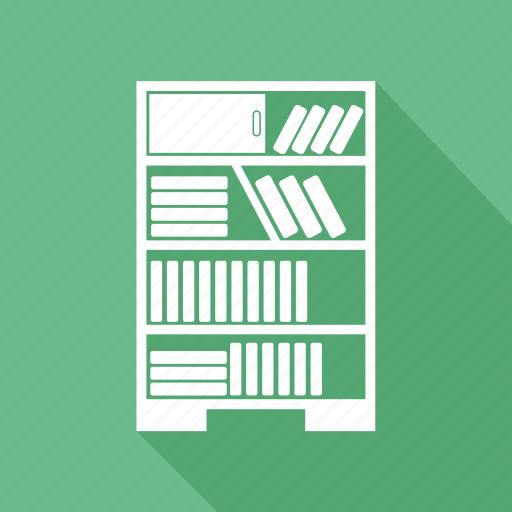 book, book shelf, book storage, books almirah icon