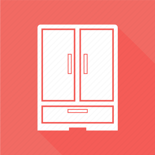 almirah, bureau, cabinet, drawer, filing cabinet icon